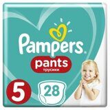 Трусики Pampers Pants 5 12-17кг 28шт