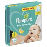 Подгузники Pampers New Baby-Dry 1 2-5кг 94 шт.